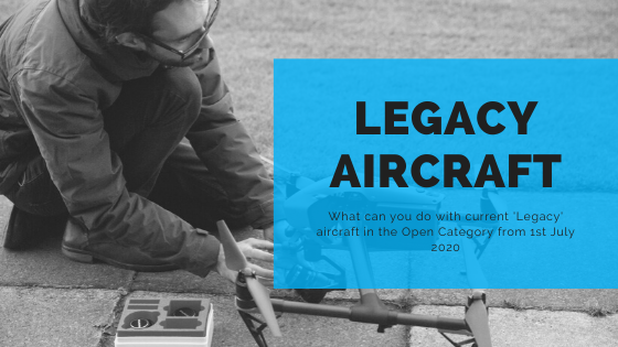 Legacy aircraft in open category a2 cofc