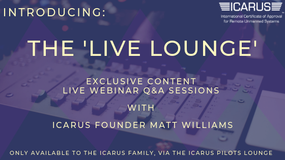 Invitation | Join ICARUS Founder Matt Williams, MR MPW in the ICARUS 'Live Lounge'