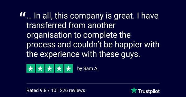 Trustpilot Review - Sam A.