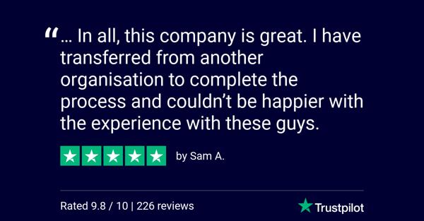 Trustpilot Review - Sam A.